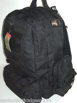 Large Black Hydration System Assault Pack 3 Day Ruck w/ MOLLE Pouches & Bladder