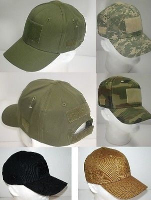 Tactical Operator Ball Caps Hat w/ Velcro for Flag Patches IR/Name Patch