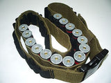 Cotton/Canvas Tactical Shotgun Shell Bandolier Holds 48 Rounds Ammo Keeper Belt