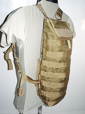 Coyote Brown Combat Tactical Hydration Carrier MOLLE Webbing Modular Water Pack