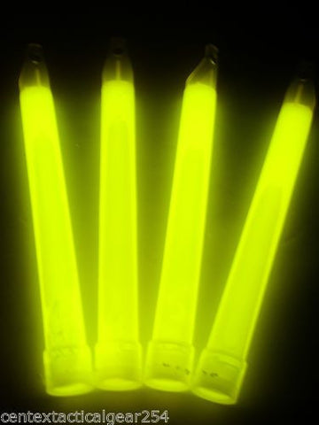 Pack of (4) Tactical ChemLight Light Sticks Cyalume 12 Hour Glow Stick