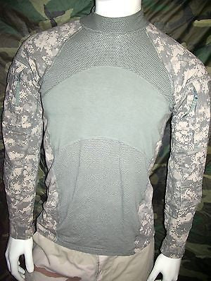 Army Digital ACU Combat Shirt ACS Long Sleeve Hot Weather FR Stretchy Shirt