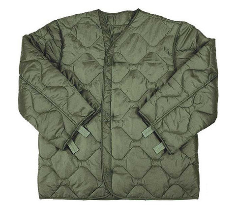 M-65 Army Surplus OD Green Field Jacket Liner Quilted Cold Weather Coat