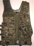 Tactical Digital Camouflage Cross Draw Vest w/ Ammo Pouches, Gun Holster, & Belt