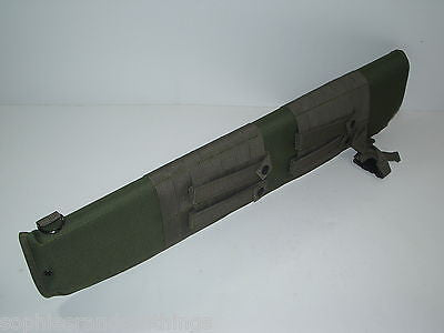 OD Green Ambidextrous Tactical Shotgun Scabbard/Sheath MOLLE Carry Case