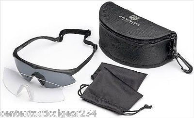 Revision Sawfly Ballistic Shooters Glasses Eye Pro Kit Clear & Smoke Lens Reg