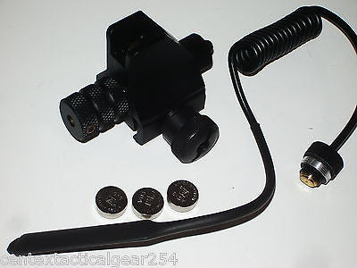 Weaver/Picatinny Rail Mount Front Iron Back Up Sight Post w/ Built in Red Laser