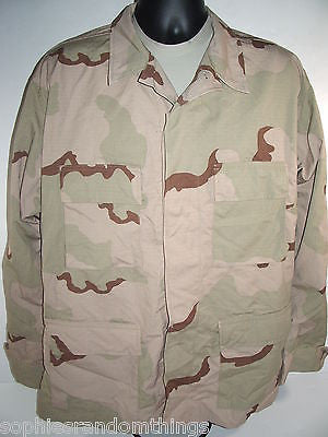 Men's Military Army Desert Camouflage DCU Top Coat Jacket