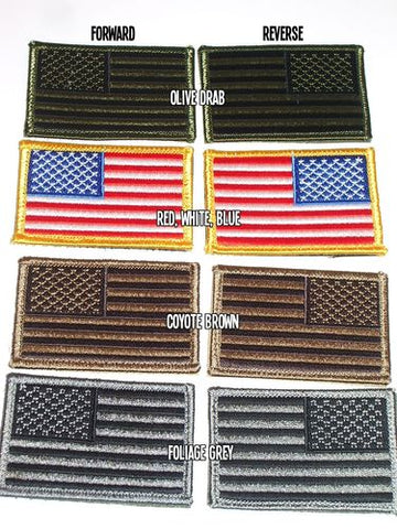 American Flag Tactical Velcro backing Patch