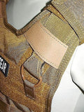 Tactical Body Armor Plate Carrier MOLLE Webbing Vest Chest Rig QD Release Cable
