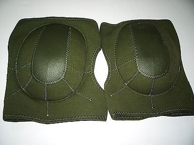 OD Green Olive Drab Combat Tactical Lightweight Neoprene Knee Pads Knee Pad Set