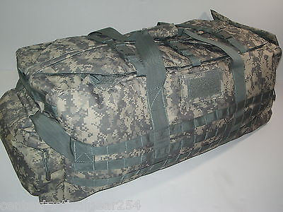 ACU Digital Large Duffle Jumbo Deployment Loadout Patrol Bag w/ Shoulder Straps