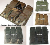 Tactical MOLLE Triple Mag Pistol Clip Pouch Holds (3) Magazines Three Stack PALS