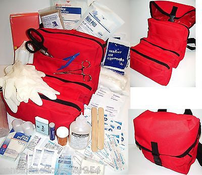 Rescue Red CLS Medic Bag First Aid Medical Kit Trifold IFAK EMT Fully Stocked