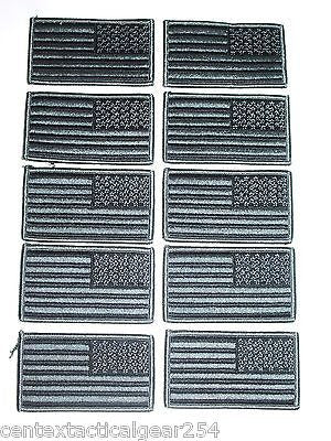Foliage Grey Military Army Uniform Tactical Reverse American Flag Velcro Patch