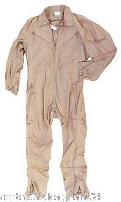 CVC NOMEX COMBAT VEHICLE CREWMAN COVERALLS TAN FIRE RESISTANT