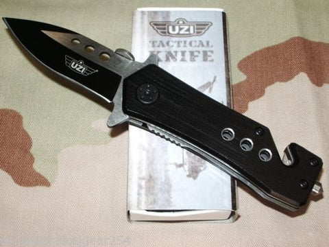UZI Tactical Rescue Folding Knife Window Breaker & Seat Belt/Strap Cutter