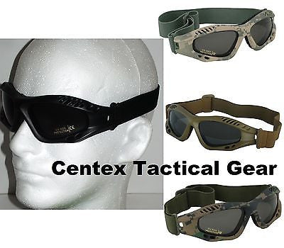 Low Profile Tactical Military Goggles 400 UV Eye Pro w/ Shatterproof Smoke Lens