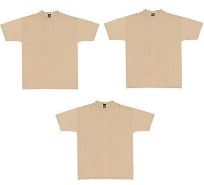 3 Pack Military Uniform Undershirt Sand/OD/Brown GI T-Shirts Crew Neck NEW!!!