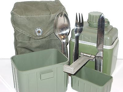 Serbian Army Military Mess Kit Camping Cookware w/ Cups, Canteen, & Utensils
