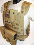 Tactical MOLLE Plate Carrier Modular Webbing Body Armor Vest w/ Magazine Pouches