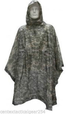 Genuine Army Digital ACU Wet Weather Rain Poncho NSN 8405-01-547-2555