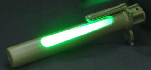 Military Surplus Green Plastic Chemlight Case Light Stick Shield