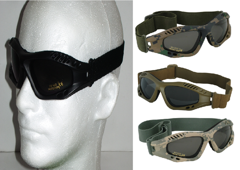 Black Tactical Low Profile Mojave Goggles