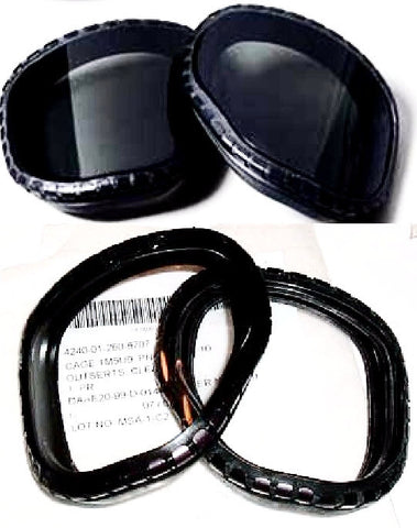 M40 Gas Mask Replacement Lens Covers Snap-On Outserts