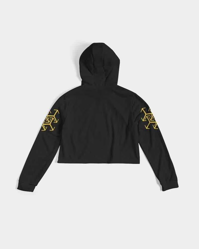 Gilded twines Cropped Hoodie