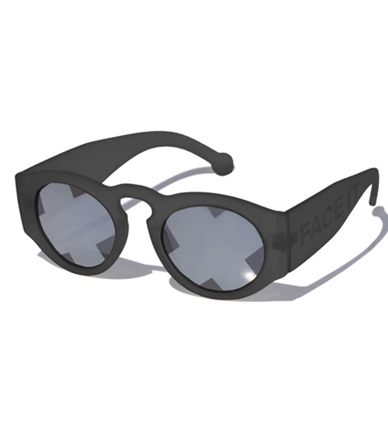 Summer Bummer Face It Sunglasses Black