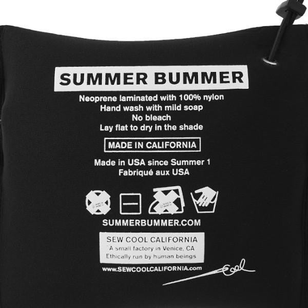 SUMMER BUMMER + SOFTWARE PROTECTIVE CLOTHING WATER BED BLUE ZIP POUCH