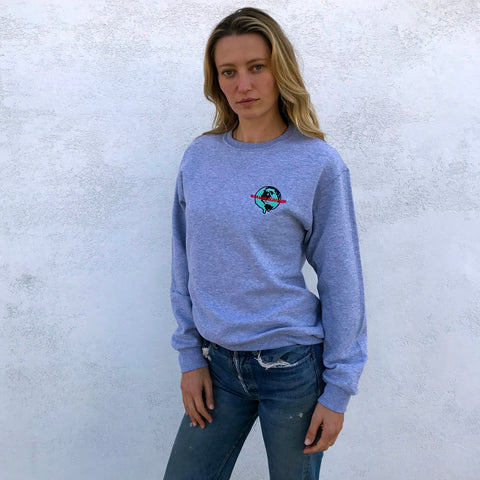 WORLD MELTING EMBROIDERED SWEATSHIRT