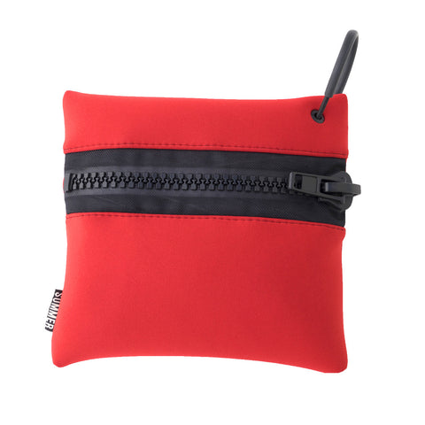 POTECT YOURCELLF RED ZIP POUCH