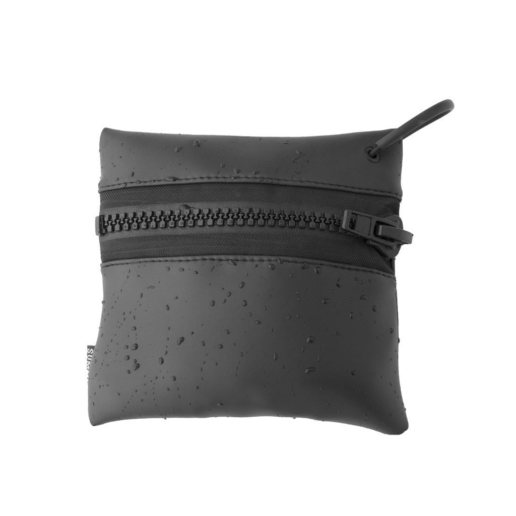 BLACK SMOOTH SKIN ZIP POUCH