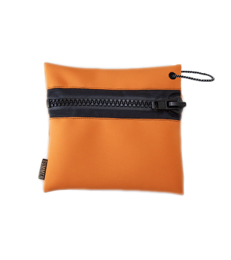 FIRE ORANGE ZIP POUCH