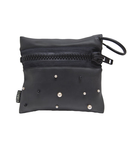 PEARL STUDDED ZIP POUCH