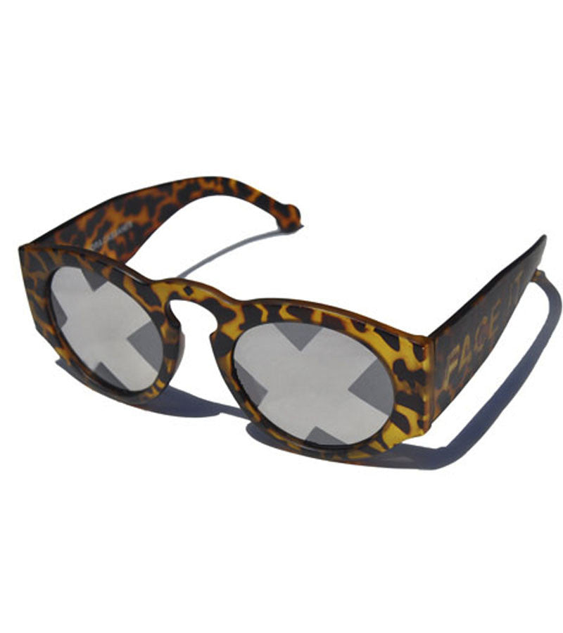 Summer Bummer Face It Sunglasses Tortoise