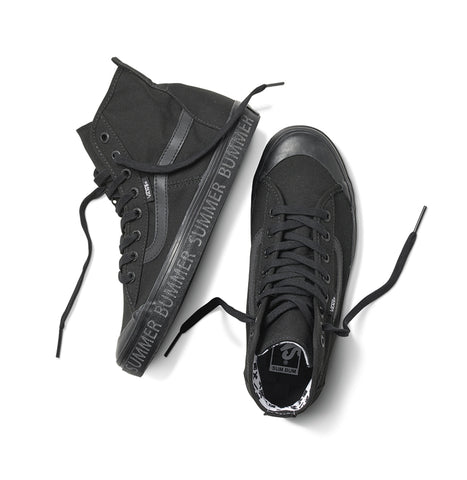 BLACK REFLECTIVE HIGH-TOP VANS