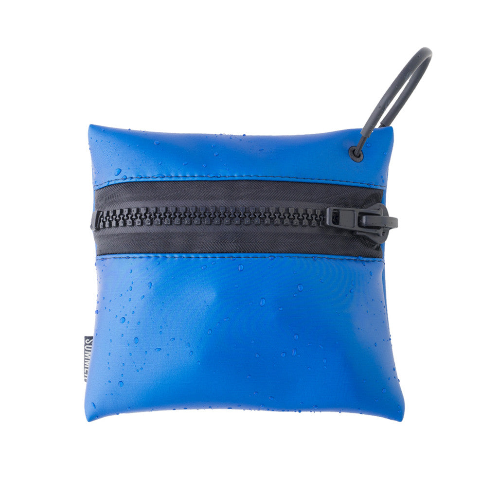 WATER BED BLUE ZIP POUCH