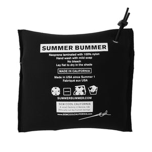 SUMMER BUMMER + SOFTWARE PROTECTIVE CLOTHING BLACK SMOOTH SKIN ZIP POUCH