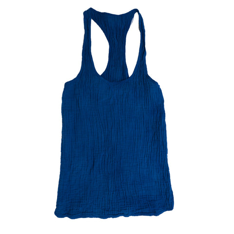 SUSTAINABLE TANK NAVY BRIGHT BLUE