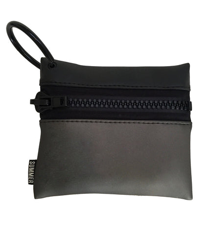 SMALL COLOR BLOCK ZIP POUCH