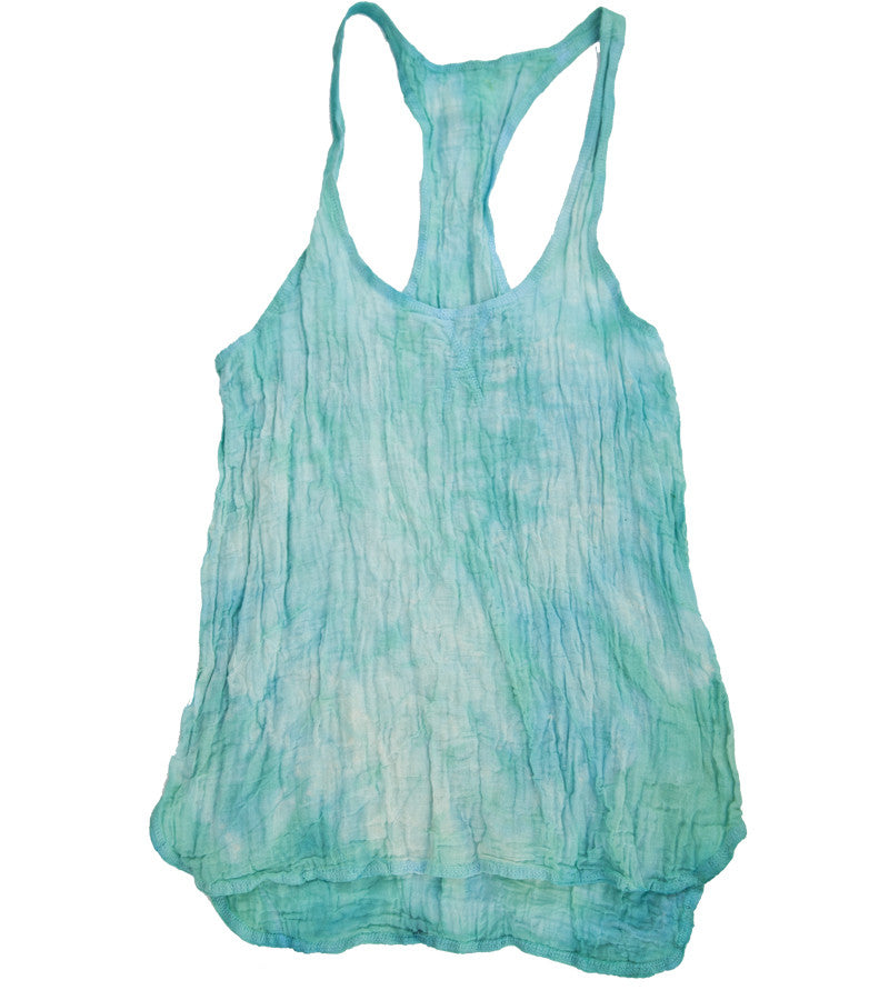 SUSTAINABLE TANK Sea Foam Tie-dye