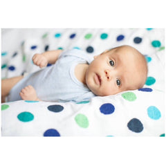 Blue Spot Embroidered Wrap