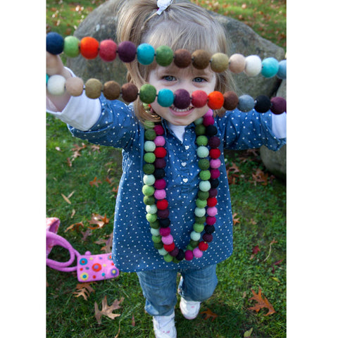 Picture of Long Multi Felt Necklace