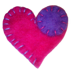 Pink Heart Brooch