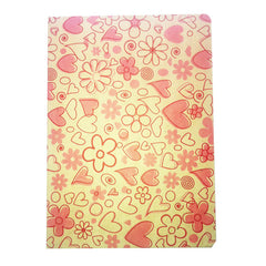 Notebook Hearts Pink