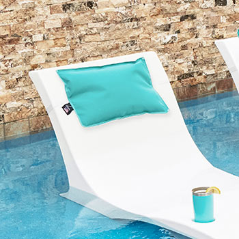kai resort pillow on kai pool chaise