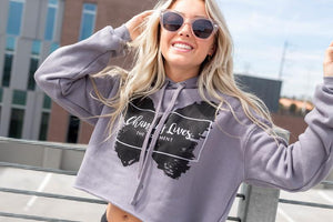 Changing Lives Logo Cropped Hoody